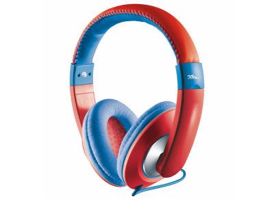 TRUST SONIN- Ακουστικά για παιδιά - ΚόκκινοΜπλε