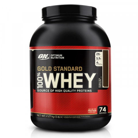 100% Whey Protein 2273g Double Rich chocolate
